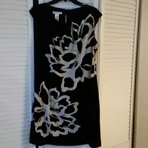 London Times Black Dress Sleeveless Dress Size 14